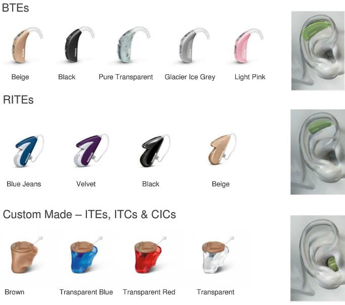 hearing aid models