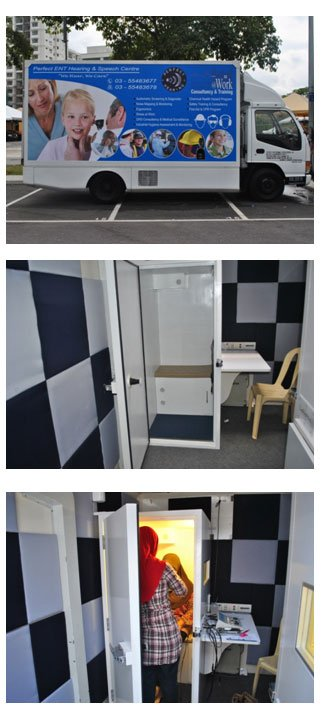 Mobile Industrial Hearing Screening truck