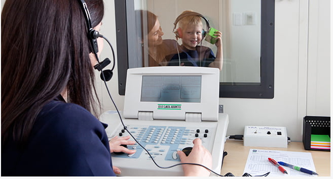 hearing tests with kid