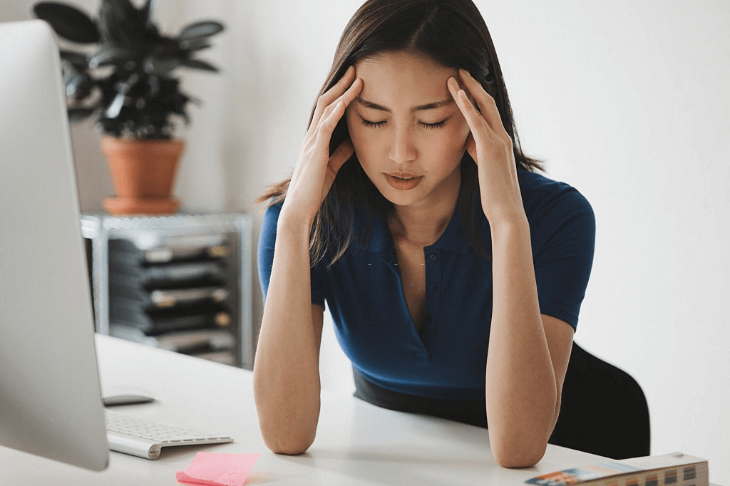 person having a headache